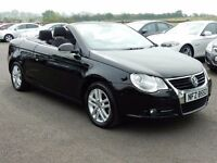 2007 volkswagen eos convertible 2.0 tdi low miles, full mot tidy example all cards welcome