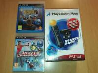 Playstation PS3 Move Starter Pack & Games