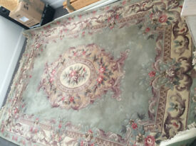 Beautiful genuine hand made wool oriental Kayam carpet 10' x 7' (3.05m x 2.13m)