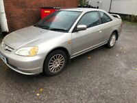 Honda, CIVIC, Coupe, 2002, Other, 1668 (cc), 2 doors