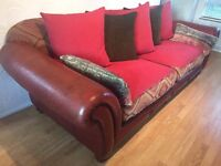 TETRAD LEATHER AND FABRIC EASTWOOD GRAND 4 SEATER SOFA ( delivery )