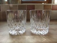 PAIR OF EDINBURGH CRYSTAL WHISKY GLASSES HAND CUT IN SCOTLAND EXCELLENT CONDITION £30 FOR THE PAIR