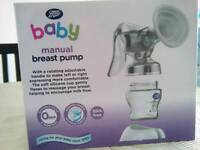 Manual breast pump boots