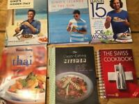 set 6 cookery books