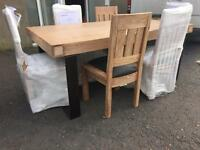 Ex-display/seconds**Solid chunky dining table and 6 chairs ONLY £719