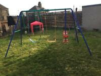 Triple swing set