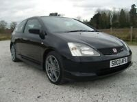 STUNNING HONDA CIVIC TYPE R IN BLACK. 75K (VOSA VERIFIED MILLAGE) FULL SERVICE HISTORY HPI CLEAR.
