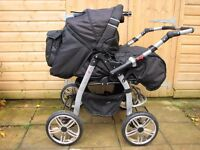 Baby Double Twin Pram Pushchair Buggy Stroller Twins