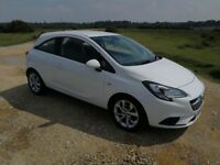 White Vauxhall Corsa 1.4 Ecoflex 2015 with heated seats and steering wheel, 21000 miles