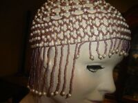Great Gatsby 20's Flapper Beaded Cap