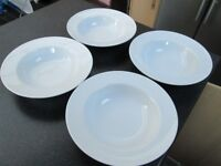 SAINSBURYS 4 LARGE PASTA DISHES WITH RIM EX COND.