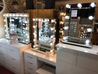 AVAILABLE TODAY New illuminated Hollywood mirrors with Super bright 9w LED bulbs from £149-£349