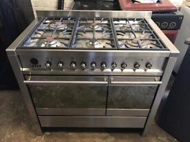 Smeg stainless steel gas cooker and electric ovens 100cm