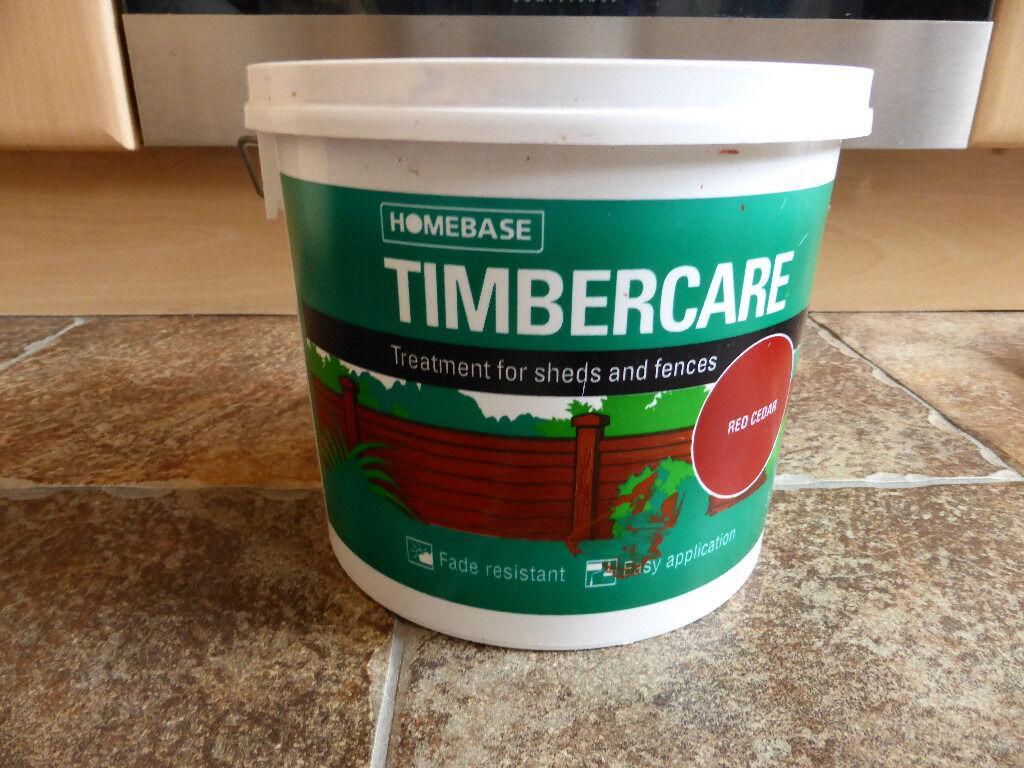 Homebase Timbercare Red Cedar Garden Paint In Elgin Moray