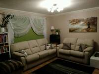 Fabric quality cream sofa set