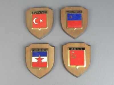 Dragon Paris Lot 4 Fret Badges Enamel Nations Flag