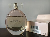 75% Full Calvin Klein SHEER BEAUTY Perfume! 100ml Boxed!
