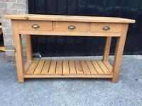 Solid Pine console table (delivery available)