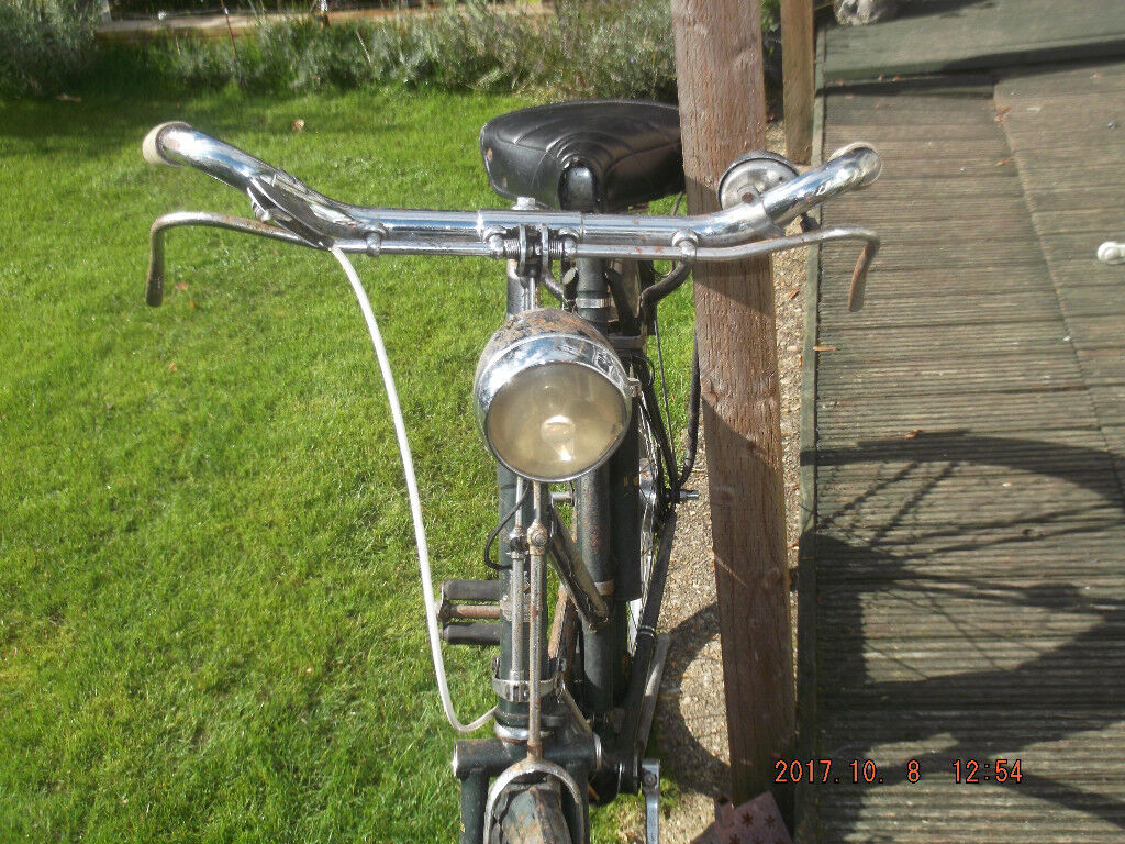 nice barn find old ladys bike all original lights work in good condition