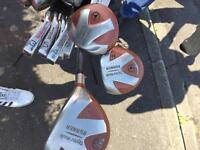 Full set Wilson staff RH clubs, bag, head covers and balls good condition!