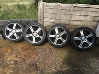 "17"" 7j multi stud alloy wheels 5 x 100 and I think 5 x108 set of 4"