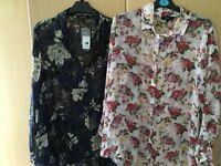 2 brand new maternity shirts