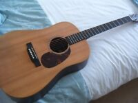 Martin DX1RAE Electro Acoustic Guitar.