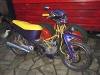 crazy honda anf 125 moted till may ready to ride