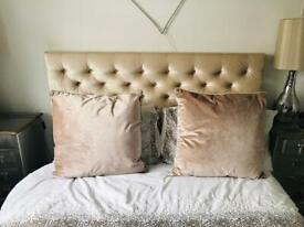 Two large mink cushions