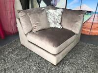 New Bouyant Modular Corner Sofa Section in Mink Plush Velvet £165