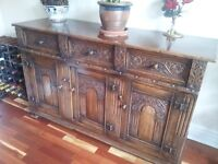 VINTAGE sideboard. Heavily carved. EXCELLENT CONDITION. Very rare find.
