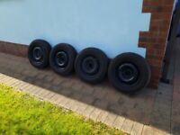 Steel Rims/Tires to fit Peugeot 405