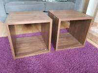 Next home dark wood cube tables