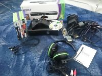 Xbox 360 games headset kinect mint condition
