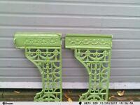 Victorian cast iron sink bracket stands