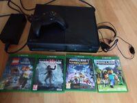 Xbox one 1TB plus 4 games