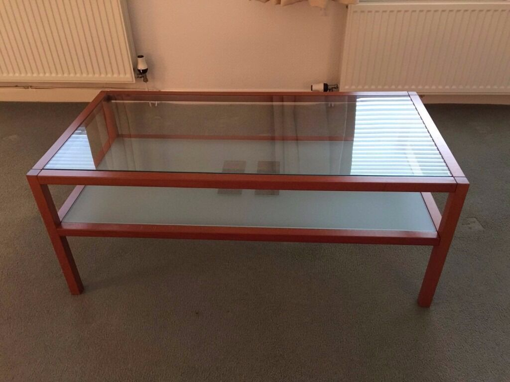 Glass Topped Coffee Table * PRICE REDUCE *