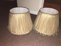 Gold lamp shades with beads