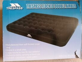 Trespass flocked double airbed + pump