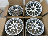"ALLOY WHEELS 19"" NEW ALLOYS BBS LM STYLE CONCAVE ALLOY WHEELS AUDI A3 A4 A6 MERCEDES C E W205 CLS SL"