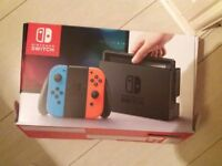 Nintendo Switch and three games