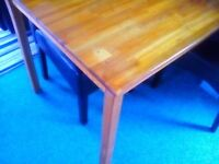 Antique pine wooden dining table