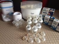 Tommee Tippeee Steriliser & Bottles bundle