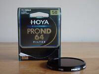 Neutral Density Camera Filter - 58mm Hoya ND64 6-stop
