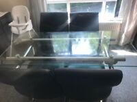 Glass dining table great condition sits 4or 6 £120 ONO