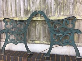 Heavy Fleur De Lys Cast Iron Garden Bench Ends Few Sets Available- DELIVERY/COLLECTION
