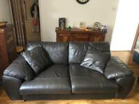 Leather 3 seater settee