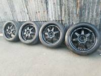 "Genuine Lenso 19"" Alloy wheels 5x108 Ford Volvo"