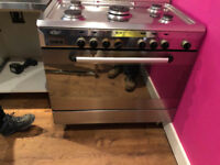 dual fuel 90cm stainless steel range cooker