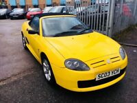 MG TF CONVERTIBLE 1.6 PETROL MANUAL ROADSTER LOW MILEAGE 75000 MILES